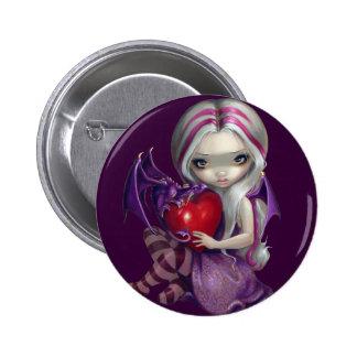 """""""Valentine Dragon"""" Button"""