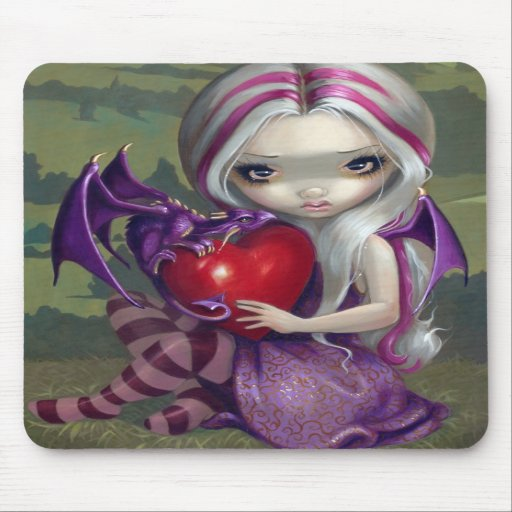 """Valentine Dragon"" Mousepad"