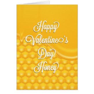Valentine Dripping Honey Card