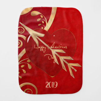 Valentine Elegance FOR BABY RECEIVING KEEPSAKE Burp Cloth