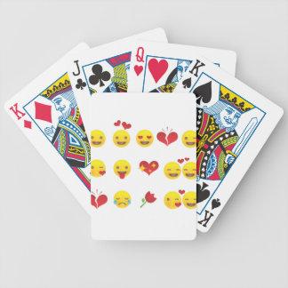 Valentine Emojis Bicycle Playing Cards