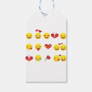 Valentine Emojis Gift Tags