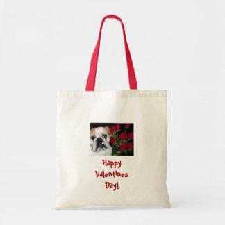 Valentine English Bulldog Tote