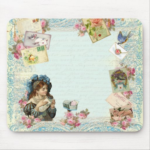 Valentine Ephemera Love Letters Mouse Pads