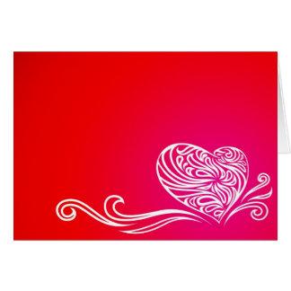 Valentine Floral Heart Card