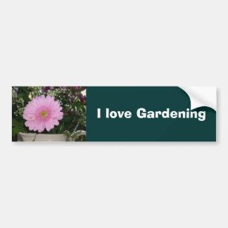 Valentine flowers bumper sticker