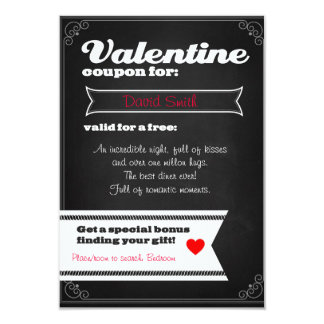 Valentine free coupon card