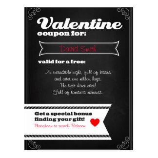 Valentine free coupon postcard