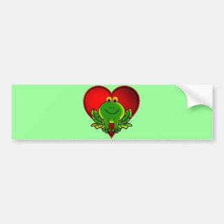 Valentine Frog Bumper Sticker