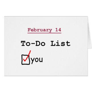 Valentine: Funny To-do List Card