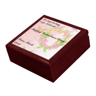 Valentine Gift Box with Flowers & Butterflies