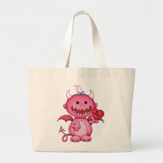 Valentine Girl Devil Tote Bag