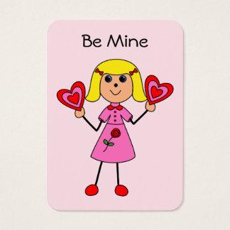 Valentine Girl Mini Card
