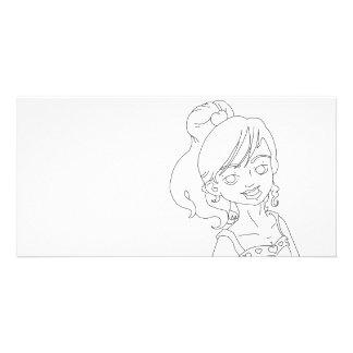 Valentine Girl Photo Card
