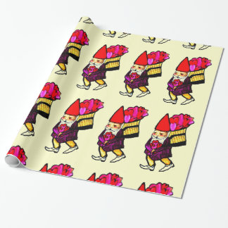 VALENTINE GNOME wrapping paper