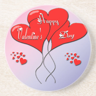 Valentine Heart Balloons Coaster