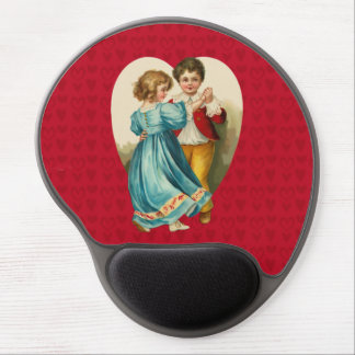 Valentine Heart Boy and Girl Dancing Gel Mouse Pad