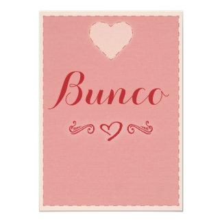 Valentine Heart Bunco Invitation