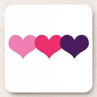 Valentine Heart Beverage Coasters