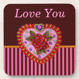 Valentine Heart Drink Coasters