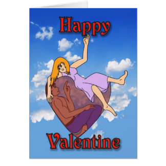 valentine heart couple card