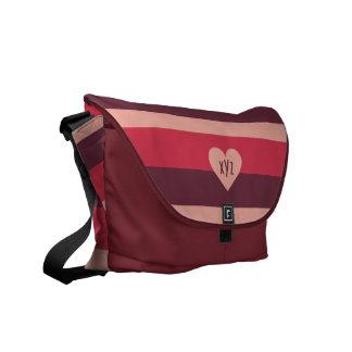 Valentine Heart custom messenger bag