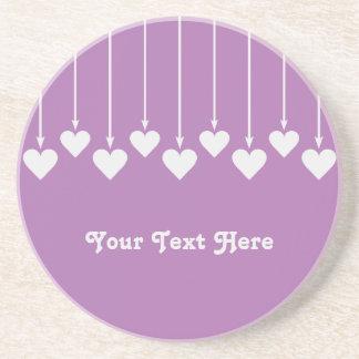 Valentine Heart custom monogram coaster