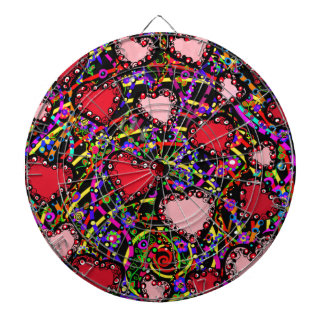 Valentine Heart Designs Dartboard