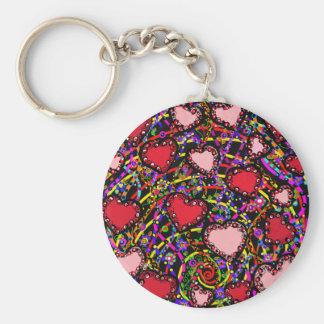 Valentine Heart Designs Key Ring