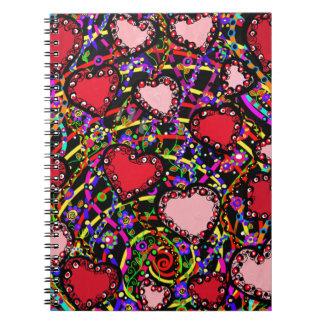 Valentine Heart Designs Notebooks