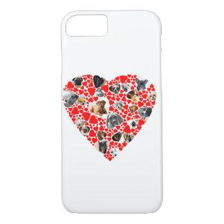 Valentine Heart Dog Photo Collage iphone case