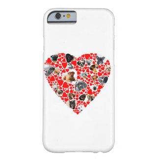 Valentine Heart Dog Photo Collage iphone case Barely There iPhone 6 Case