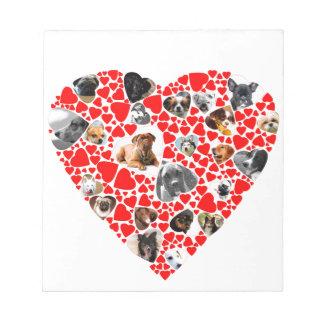 Valentine Heart Dog Photo Collage Scratch Pads