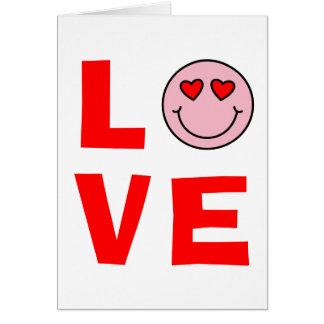 Valentine Heart Eyes Emoji Love Card