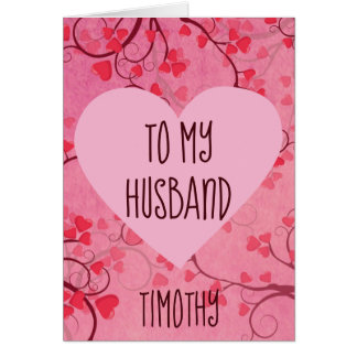 Valentine Heart for An Amazing Husband Card