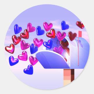 Valentine Heart Mail2 Classic Round Sticker