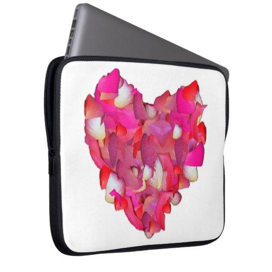 Valentine Heart of Roses Laptop Sleeve