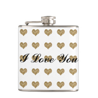 Valentine Heart Pattern Hip Flask