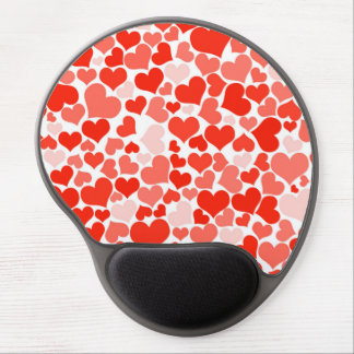 Valentine Heart Pattern Red Hearts Gel Mouse Pad