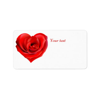 Valentine heart personalized gift Label Address Label