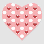 Valentine Heart Polka Dots Heart Sticker