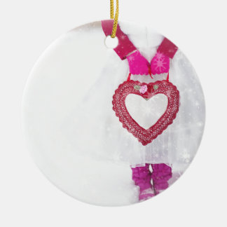 valentine-heart-romantic-love round ceramic decoration