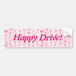 Valentine Heart Vines Car Bumper Sticker