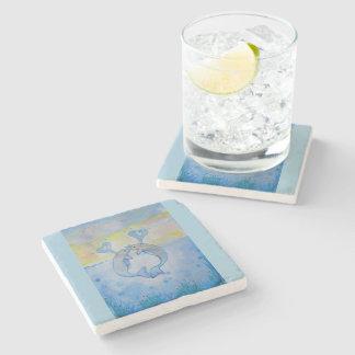 valentine heart whale love gift art graphics stone beverage coaster