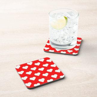Valentine Hearts Beverage Coasters