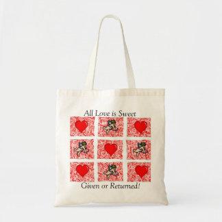 Valentine Hearts&Cherubs Budget Tote Bag