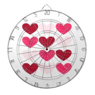 Valentine hearts dartboards