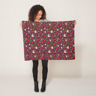 Valentine Hearts Fleece Blanket