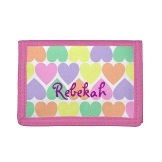 Valentine Hearts Girls Personalized Wallet