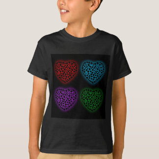 Valentine hearts glowing in the dark T-Shirt